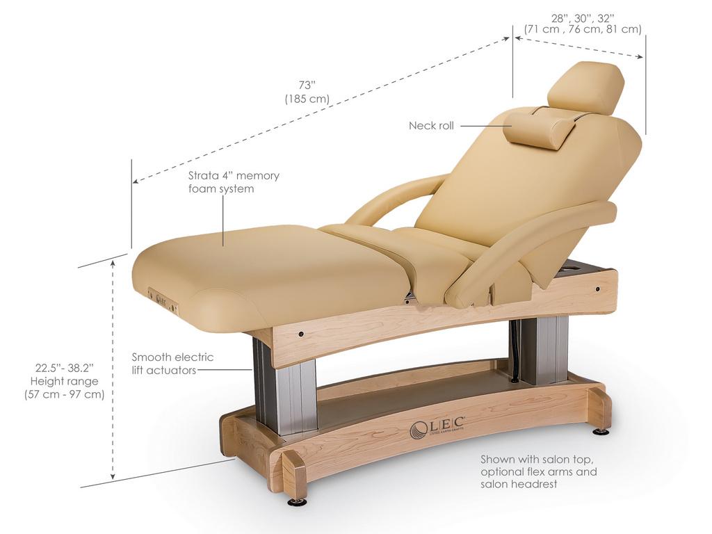 Aspen massage tables features