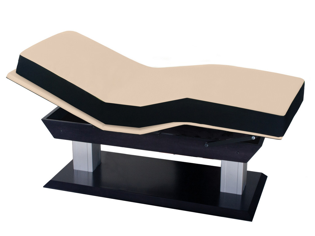 Aspen massage table with tilted back