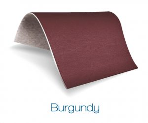 Burgundy color upholstery